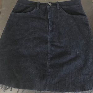 Corduroy high waisted skirt